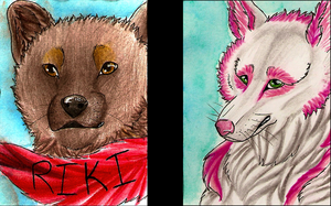 ACEO trades by Ashenee
