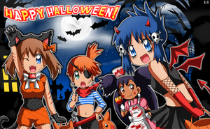 Pokegirls: Halloween by Endless-Rainfall