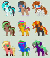 Pony Adopt for Points (OPEN 3 left) by EnvyXtheXPalmXTree