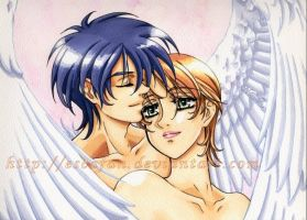Pur Love Van and Hitomi by escafan