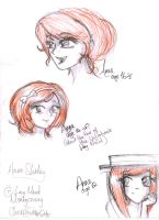 Anne of Green Gables Sketches by lilmissmanga