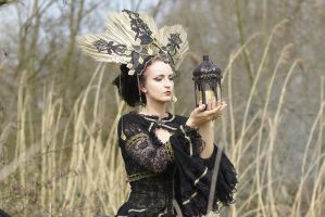 Stock - Gothic Headdress look at the light by S-T-A-R-gazer