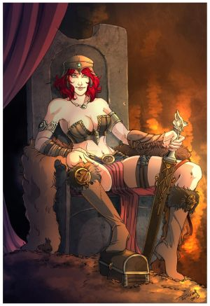 Comm: Barbarian Queen Tyra by SicilianValkyrie