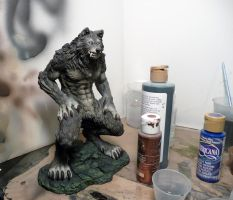 FOR SALE! First airbrush painted werewolf casting! by Meadowknight
