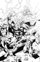 Thor vs. Invaders -1min later by JasonMetcalf