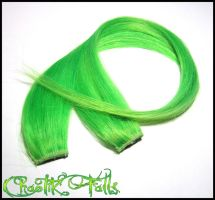 Spring Green Clip In Hair Extensions by ChaotikFalls