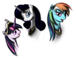 Three of mares by SpaceHunt