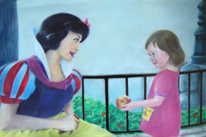 Snow White and Child in Conte by accasperberry3
