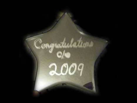 Class of 2009 Glass Etched Sta by beautifulsorow