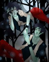 Marceline and Marshall Lee by Hawnaw