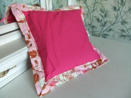 Pink ! cushion cover by sewn-by-honeybirds