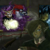 Link vs. Phantom Ganon by Shinkami