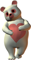 PNG Cute Pink Heart Bear by ThoArtIsPixel