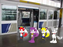 Me, Lilly, Louie, and Larry goes for a Tram Ride by FoxPrinceAgain