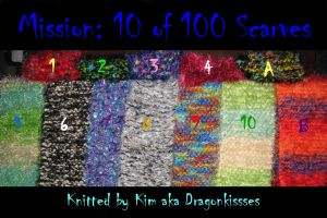 Mission: 10 of 100 Scarves by DragonKissses