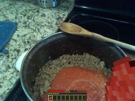 Minecraft cooking in Real Life by ZanPeriorArk