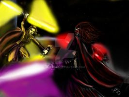 Bastila Vs Revan by CJRogue