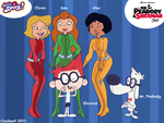 Totally Spies meeting Mr. Peabody and Sherman by Csodaaut