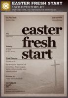 Easter Fresh Start Church Flyer Template by loswl