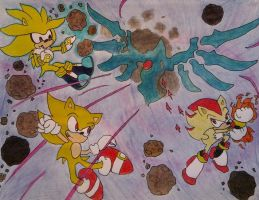 Super hedgehog battle request by OutThereOtaku