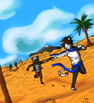 Running in the desert - Colour by Son44