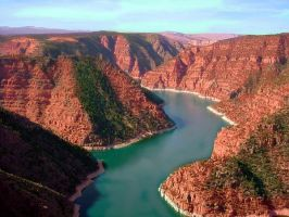 Red Canyon Flaming Gorge by michaelgoldthriteart