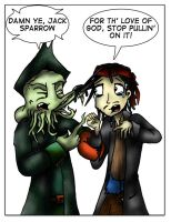 Davy Jones and Jack Sparrow by Ally-Rinally