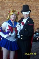 Sailor Moon and Tuxsdo mask by Halowing