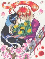 Kenshin And Kaoru very close 2 by madhatter-asylum