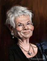 Dame Judi Dench by DevonneAmos