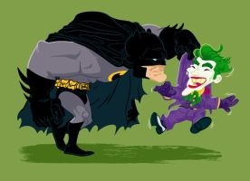 Batman and the Joker by mathieub