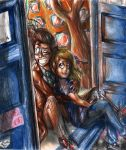 Tenth Doctor and Rose by FuriarossaAndMimma