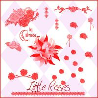 Little Roses Brushes by Coby17