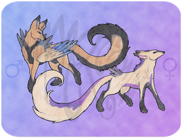 Giant Fennec Fox Male and Female Breedables [OPEN] by Modified-Rabbit