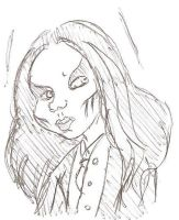 Joey Jordison Cartoon Sketch 2 by MrsMadisonLossen14