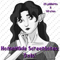 Homemade Screentones: Dots by Cei-Ellem