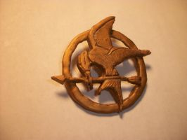 Mocking Jay Pin by QueenAliceOfAwesome