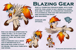 Reference sheet - Blazing Gear *UPDATED* by KairaAnix