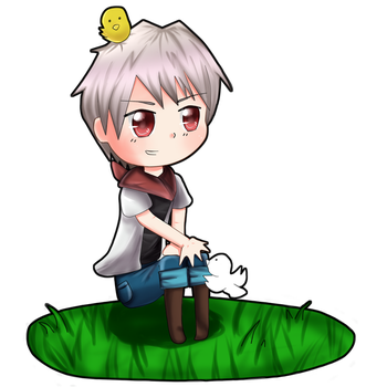 Chibi Prussia Contest Prize by TealHikari