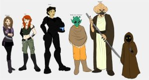 The Star Wars Gang by CherryBobOmb