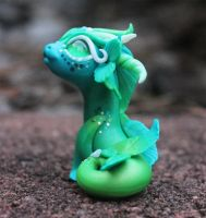 Green And Blue Bitty Water Dragon 4 by BittyBiteyOnes