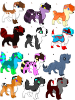 BIG point adoptables batch CLOSED by SpunkyAdopts