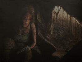 Taking Shelter - TR Acrylic Painting by CurlyWurly808