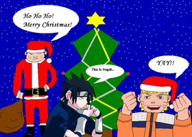 Naruto Themed Christmas Pic by madhouse1991