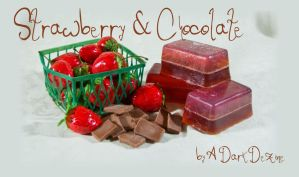 strawberry chocolate soap by ADarkDezine