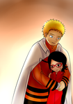 Naruto and Sarada by MintAnnComics
