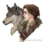 Arya and Nymeria by Orpheelin