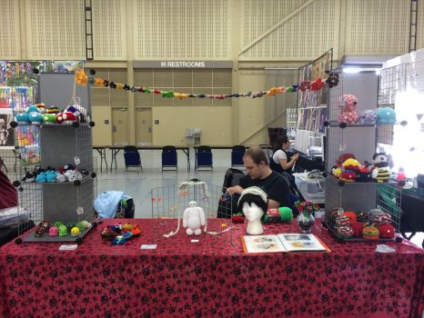 Tokyo in Tulsa 2015 Booth Set up 2 by KyouyasKritters