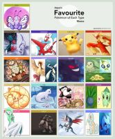 Favorite Pokemon by Ooakfeather