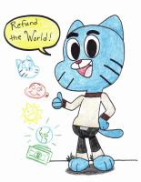 Gumball: Refund the World by WaniRamirez